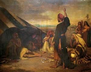 Elihu tillrättavisar Job - Arthur Ackland Hunt