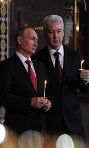 Putin i Kristus Frälsarens katedral